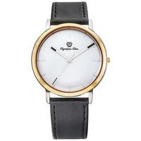 Olympia Star 奧林比亞之星-玩色時尚腕錶/40mm- 白面黑帶-送皮錶帶 58055MSR