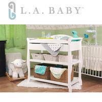 美國 L.A. Baby 嬰兒尿布台置物架(原木色/白色)
