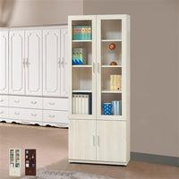 【時尚屋】[UZ6]泰豐2.62尺四門書櫃UZ6-261-8二色可選