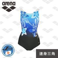 arena 休閒款 日本製 L6224WZ 熟女最愛 女士 連身三角泳衣 保守 U背 經典 運動顯瘦泳衣
