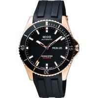 MIDO 美度 Ocean Star Caliber 80 200m潛水機械腕錶-黑 M0264303705100