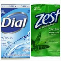 Dial Spring Water礦泉抗菌香皂(113g*3/組)*4 +Zest除汗味香皂蘆薈精華(3.2oz/90g)*2/組*6