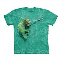【摩達客】(預購)(男/女童裝)美國進口The Mountain 攀岩變色龍 純棉環保短袖T恤
