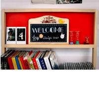 [協貿國際]特價韓版留言板原木掛鍊式磁性雙面小黑板白板送磁鐵兒童玩具一個價