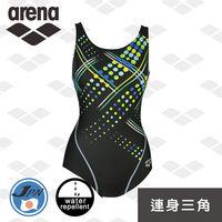 arena 休閒款 L6208WZ 日本製 女士 連身三角泳衣 保守 Y背 防潑水 運動顯瘦泳衣
