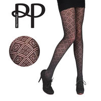 【摩達客】英國進口【Pretty Polly】鑽方格紋印花彈性褲襪