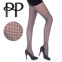 【摩達客】英國進口【Pretty Polly】網鑽型格紋彈性褲襪