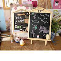 [協貿國際]韓國文具可立式可掛畫板木屋磁性小黑板留言板兒童益智木製玩單一個