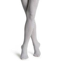 【摩達客】瑞典進口【Happy Socks】黑白細直紋彈性褲襪