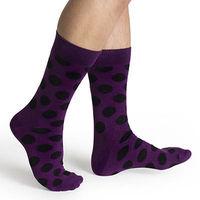 【摩達客】瑞典進口【Happy Socks】紫底黑圓斑中統襪