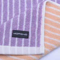 【MORINO】MIT美國棉雙面條紋浴巾(2入組)