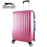 【英國 Slazenger 史萊辛格】 24吋 時尚雅致行李箱/拉桿箱/旅行箱(桃心紅)