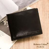 Roberta Colum - 魅力無限牛皮款8卡1照左右翻短夾-共2色