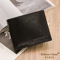 Roberta Colum - 魅力無限牛皮款4卡3照可拆式上下翻短夾-共2色