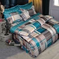 【Novaya諾曼亞】《布列顛郡》絲光棉特大雙人四件式兩用被床包組(綠)