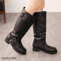 【TOMO】造型多皮帶扣環長靴【K169C3093】