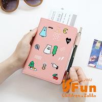 【iSFun】搗蛋幽靈*護照證件手拿包/三色可選