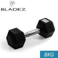 【Bladez】六角包膠啞鈴-8KG