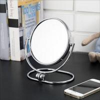 BuyJM 摺疊式2倍放大雙面化妝鏡/桌上鏡