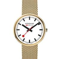 MONDAINE 瑞士國鐵MINI GIANT小巨人腕錶/35mm-霧金鍊帶 (76311GM)