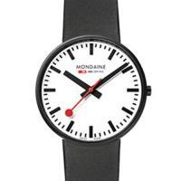 MONDAINE 瑞士國鐵Giant大錶面限量腕錶/42mm-黑框 (660811K)