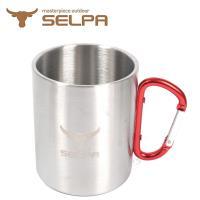 【韓國SELPA】 304不鏽鋼雙層加厚斷熱扣環杯 400ML 不鏽鋼杯 保溫杯 隔熱杯 咖啡杯 登山 露營