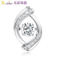 【光彩珠寶】10分 日本舞動鑽石項鍊 浪漫蜜語