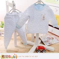 魔法Baby 寶寶居家套裝 專櫃款超厚三層棉極暖睡衣套裝~k60192