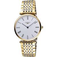 LONGINES 嘉嵐系列經典羅馬石英錶-白x雙色版/36mm L47552117