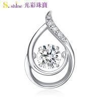 【光彩珠寶】日本舞動鑽石項鍊 戀你一生 GIA0.3克拉 F VS2