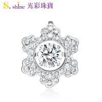【光彩珠寶】日本舞動鑽石項鍊 冬季戀歌 GIA0.3克拉 E VS2