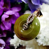 SUMMER寶石 天然緬甸A貨翡翠平安扣項鍊 實物實拍-M6-211