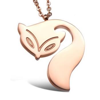 【I-Shine】狐仙祈願-西德鋼-狐狸鈦鋼項鍊(狐仙祈願)