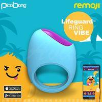 瑞典PicoBong REMOJI系列 APP智能互動 LIFEGUARD 救生環 6段變頻 男用震動環 俏皮藍