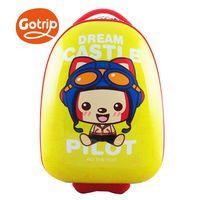 GO TRIP尚旅 17吋阿狸飛行員卡通兒童行李箱/登機箱-檸檬黃