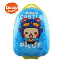 GO TRIP尚旅 17吋阿狸飛行員卡通兒童行李箱/登機箱-天空藍