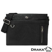 DRAKA達卡 - 鑽石壓紋鑰匙圈牛皮男包44DK8780992