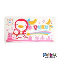 PUKU藍色企鵝 長方浴巾60*114cm(粉色)