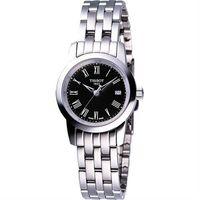 TISSOT CLASSIC DREAM 經典鋼帶女錶-黑/28mm T0332101105300