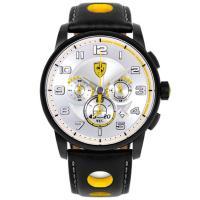 Scuderia Ferrari法拉利 F107 Heritage 法拉利儀表板設計元素三眼計時腕錶/44mm/FA0830056