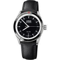 Oris Artix GT Day~Date 單向轉圈機械腕錶~黑x皮帶版 42mm 01