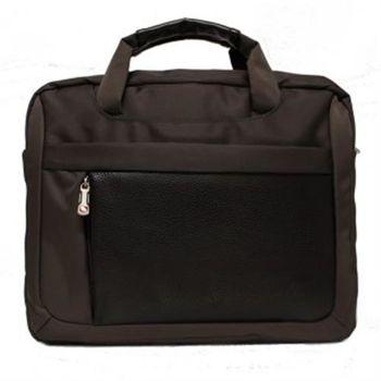 DRAKA達卡 - 都會簡約公事包商務防潑水-咖啡色-斜背包/側背包/筆電包