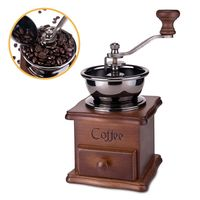 木製可調式手搖咖啡豆研磨機(ZD-CF01)