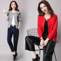 【A3】溫柔形象-素色輕羊絨針織外套-黑色/粉色/紅色/灰色 M-XXL