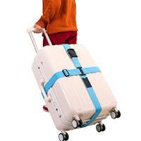 旅遊首選 旅行用品 行李箱十字緊扣 行李保護束帶 打包帶 綑綁帶
