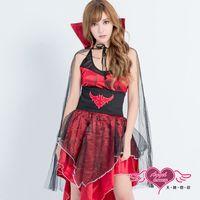 天使霓裳 吸血鬼 嗜血王妃 大人萬聖節童話角色扮演服(紅F) S8537
