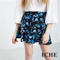 【ICHE 衣哲】幾何寶石傘狀短裙