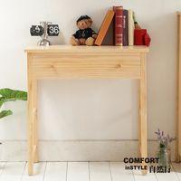 CiS自然行實木家具 書桌-電腦桌-化妝桌-邊桌W90cm(水洗白色)