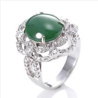 【絕世精品】Dolly 緬甸 GIA 玻璃種翡翠 18K金鑽石戒指