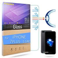 MADALY for APPLE iPhone 7 Plus 5.5吋 高透高抗藍光白水晶鋼化玻璃保護貼